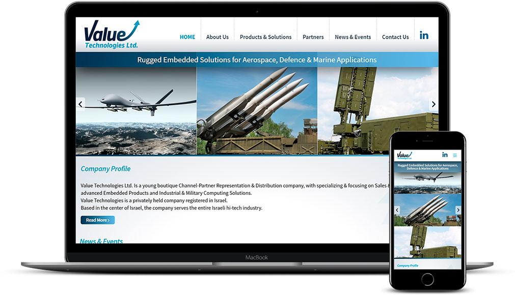 Корпоративный сайт компании из Израиля